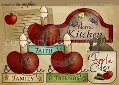 Pies clipart country apple Pie Country plate Primitive pie