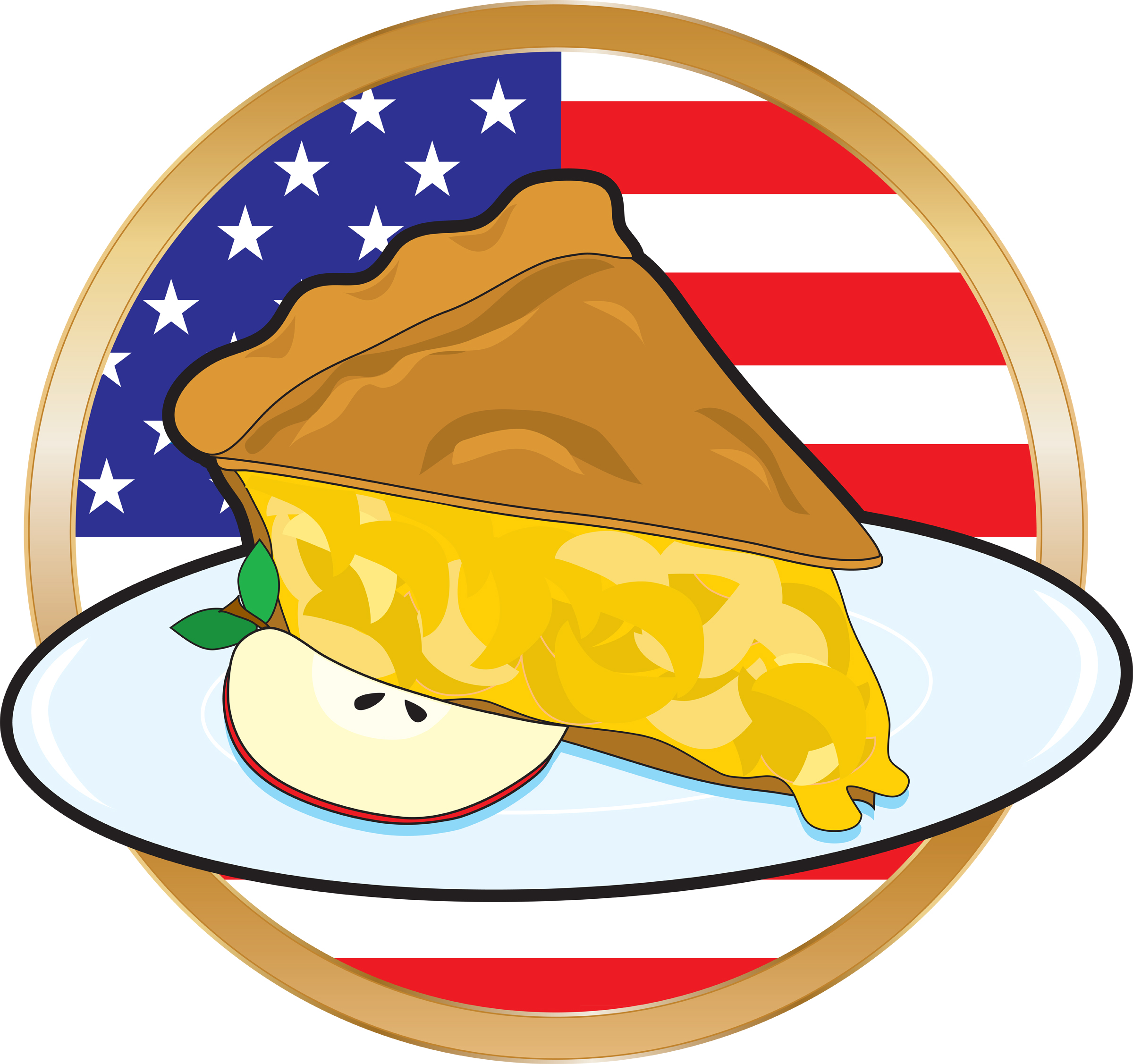Pies clipart country apple And mass Guns American