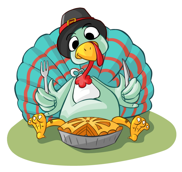 Pie clipart cute cartoon Turkey Clip Pie Clip &