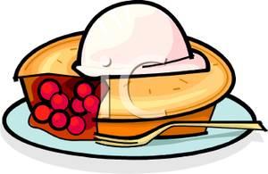 Pie clipart la mode Scoop Pie on Cream Cherry
