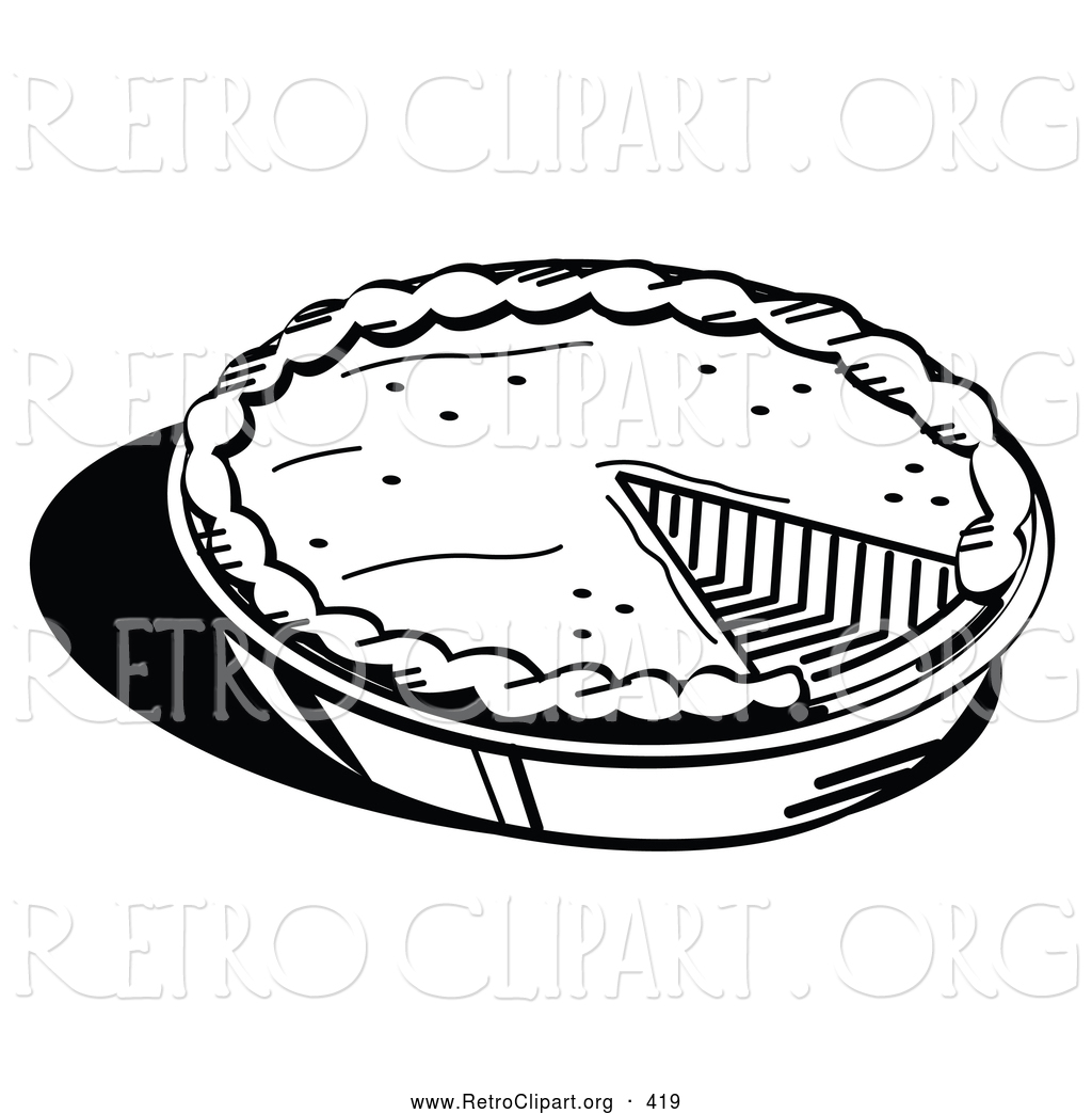 Pie clipart outline Baked Outline a of of