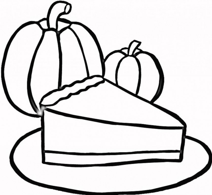 Pie clipart outline Pie black white and and