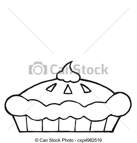 Pie clipart outline Page Outlined Pie Pie Thanksgiving