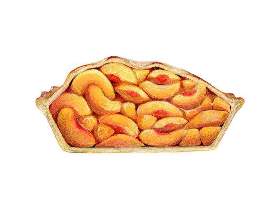 Pies clipart peach pie // Cross Cross Food Art