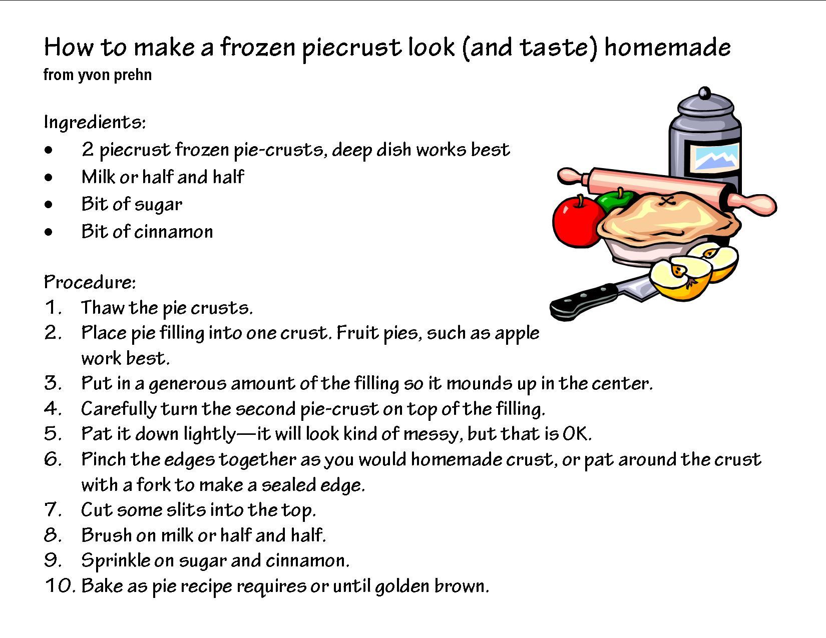 Pies clipart recipe Panda Art Free Clipart Recipe