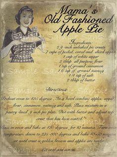 Pies clipart recipe Pantry vintage Recipe recipe old
