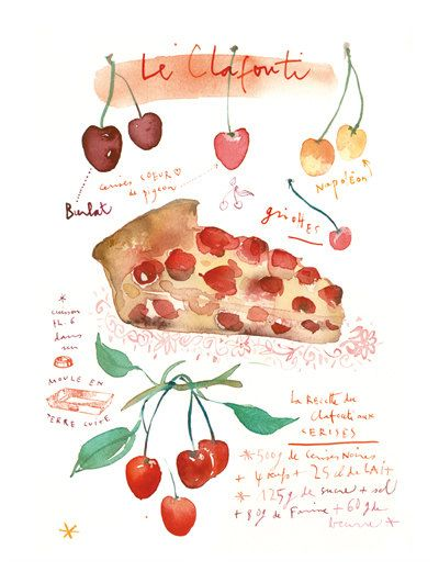 Pies clipart recipe Poster Kitchen print images on