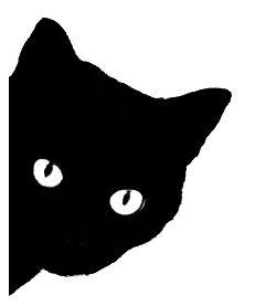 Black Cat clipart cat face  silhouette 25+ face Silhouette