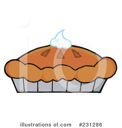 Pies clipart silhouette (RF) Toon Pie Illustration Stock