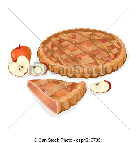 Pies clipart tasty food Isolated csp43107331 cut cut homemade