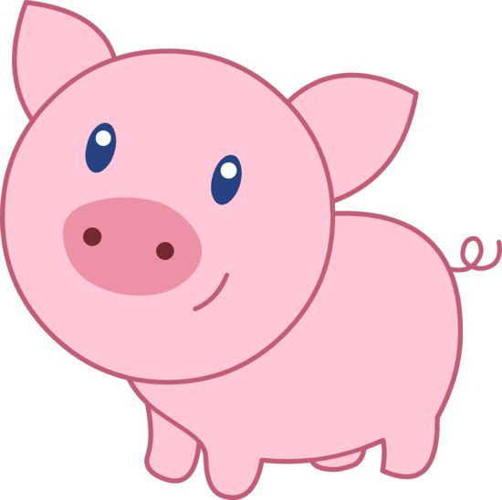 Pig clipart  Image happy pig free