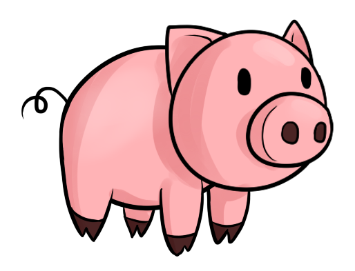 Simple clipart pig #4