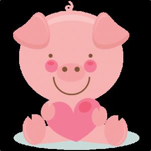 Pig clipart cute pig Cutting SVG cut art Pig