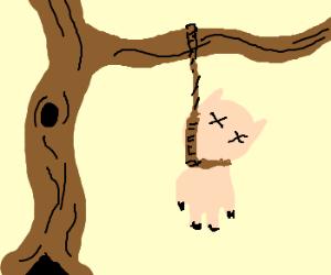 Pig clipart dead pig Dead SwogDog) hung is hung
