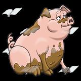 Pig clipart muddy pig Abeka Muddy Pig tail Pig—with