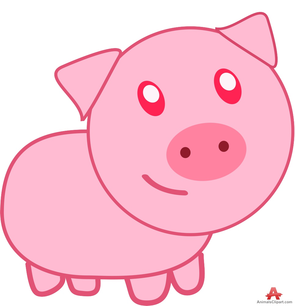 Pork clipart pink pig Catoon clipart Cliparting clipart Catoon