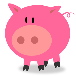 Pig clipart pink pig Pig collection Icon ClipArt Pink