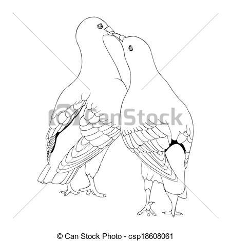 Pigeon clipart love pigeon Pigeon Art love of love