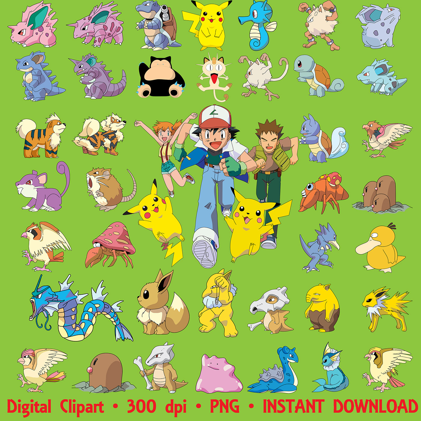 Pikachu clipart cartoon Party digital Clipart PNG 143