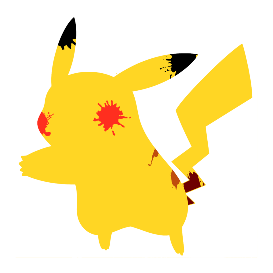Pikachu clipart cartoon Free Pikachu Art Splatter by