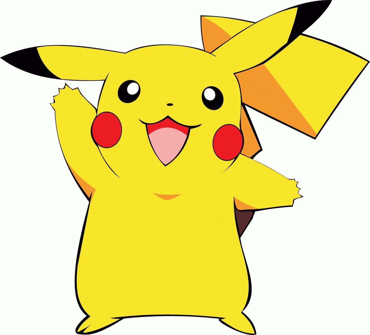 Pikachu clipart cartoon Home Pikachu Pikachu Bumper Decal