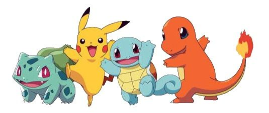 Pikachu clipart charmander Starter a Kanto from Created