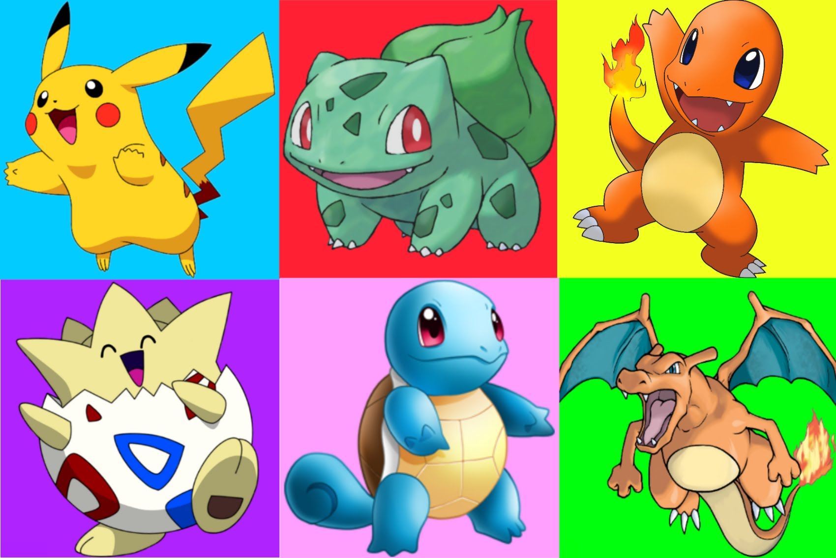 Pikachu clipart charmander Pikachu Pokemon Charmander Pokemon Colors