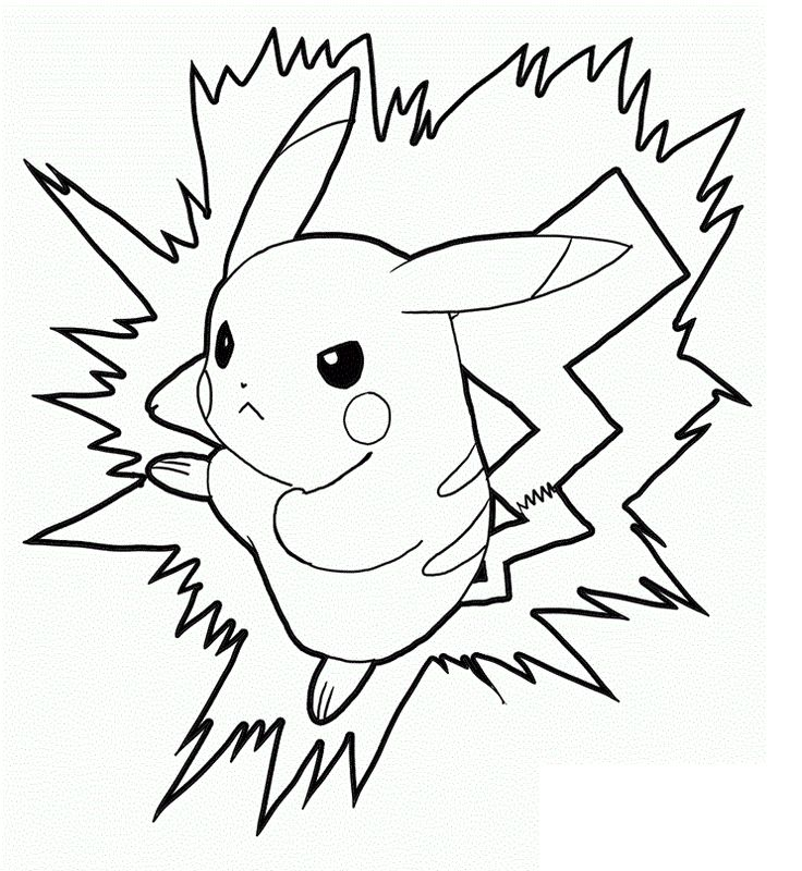 Pikachu clipart coloring page printable Pages Coloring For Pinterest pikachu
