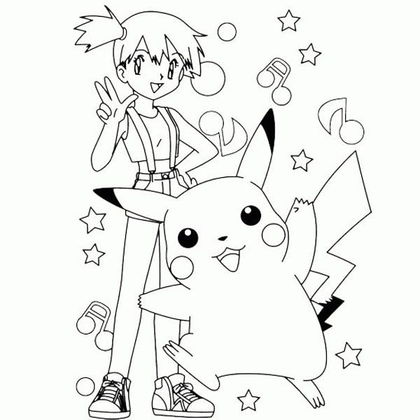 Pikachu clipart coloring page printable Colouring pokemon school pages pokemon