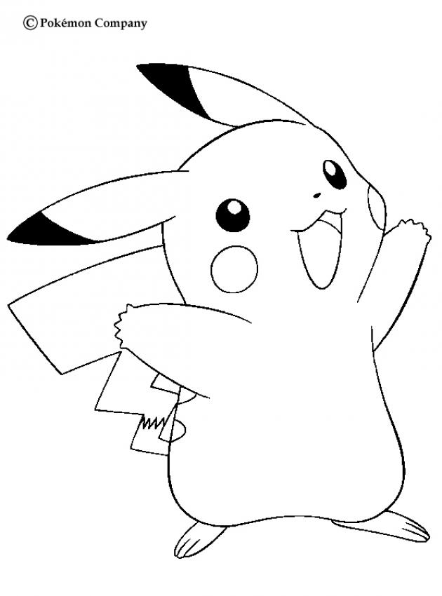 Pikachu clipart colouring page #7