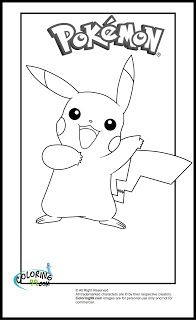 Pikachu clipart colouring page #13