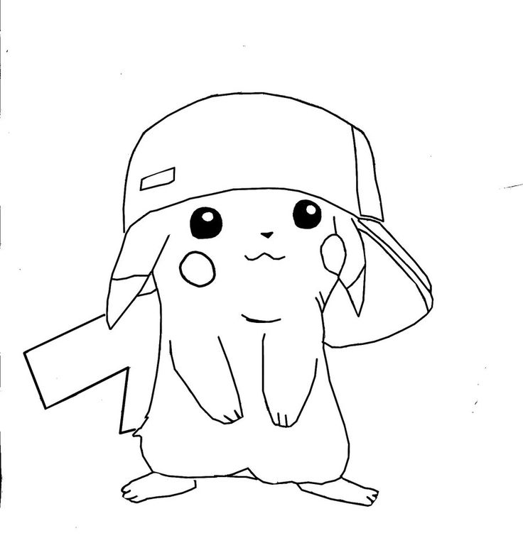 Pikachu clipart colouring page #6