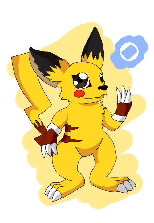 Pikachu clipart digimon HaruByakko a Digimon DeviantArt on