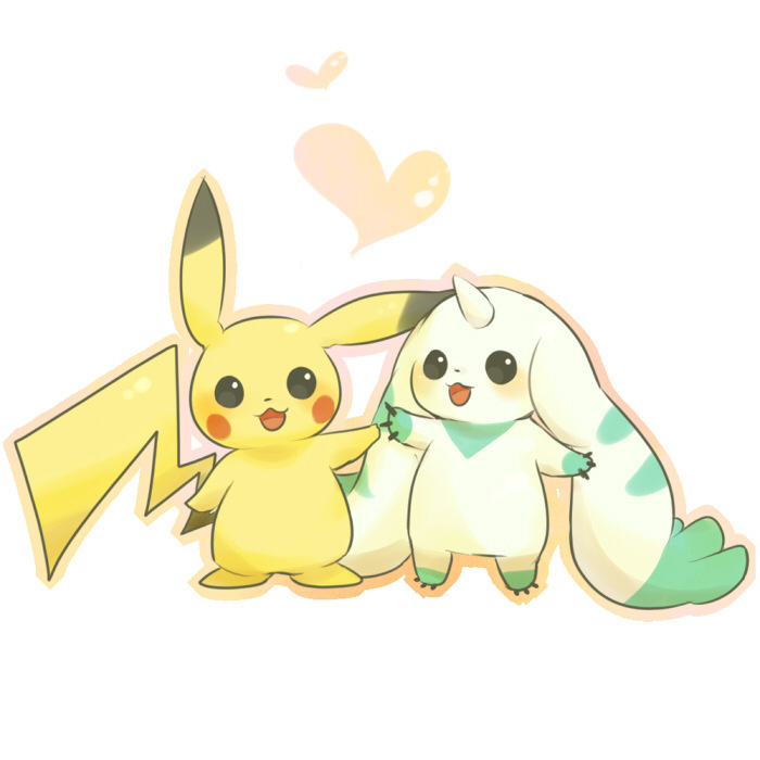 Pikachu clipart digimon Digimon Terriermon  VS Pikachu