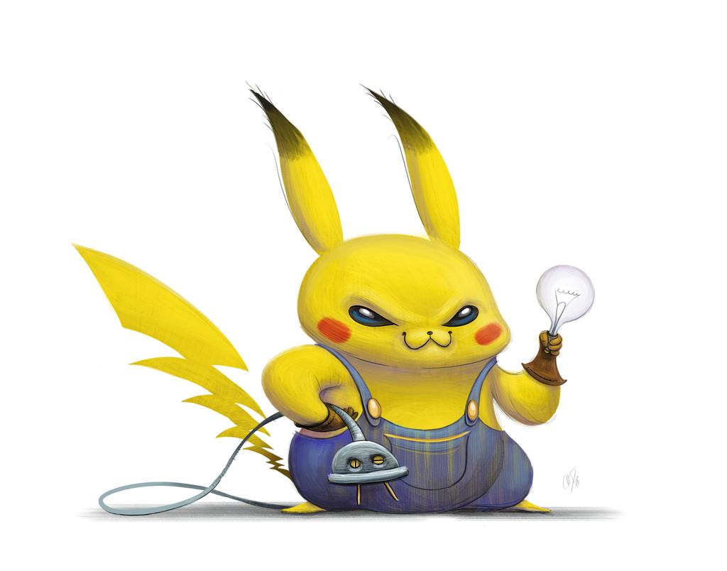 Pikachu clipart electric #6