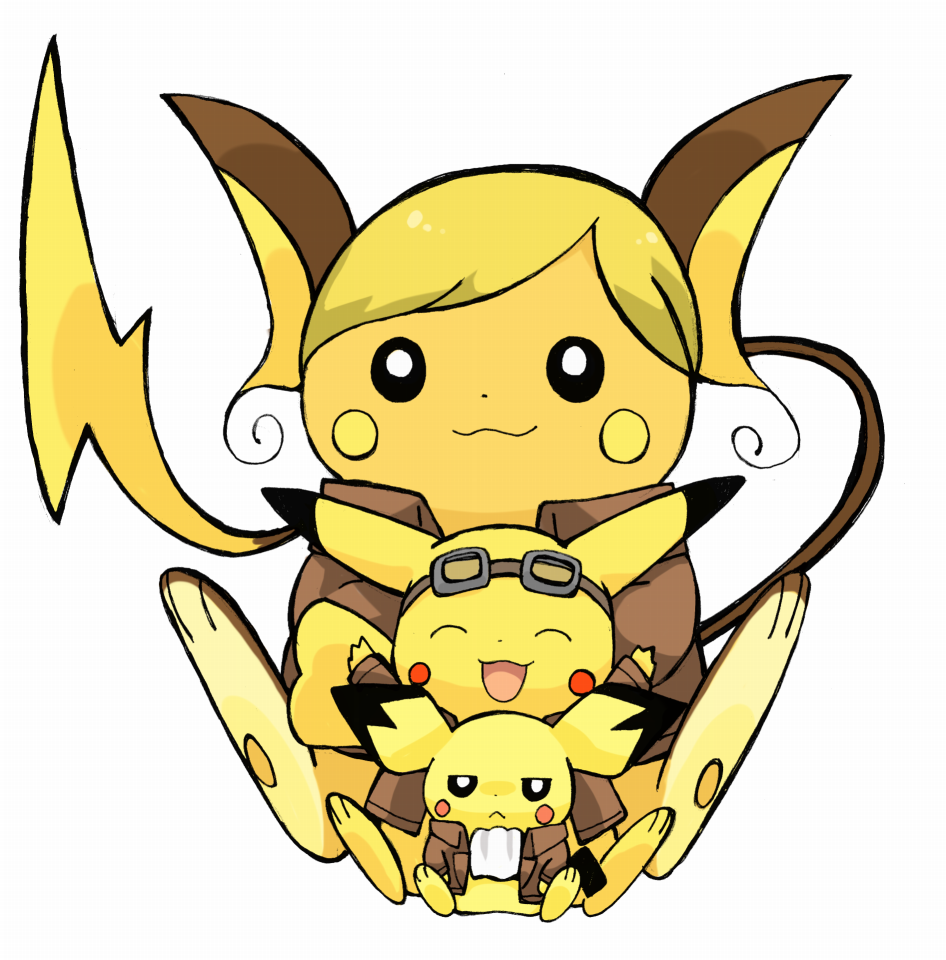 Pikachu clipart pokemon pichu  on Raichu Pikachu Raichu