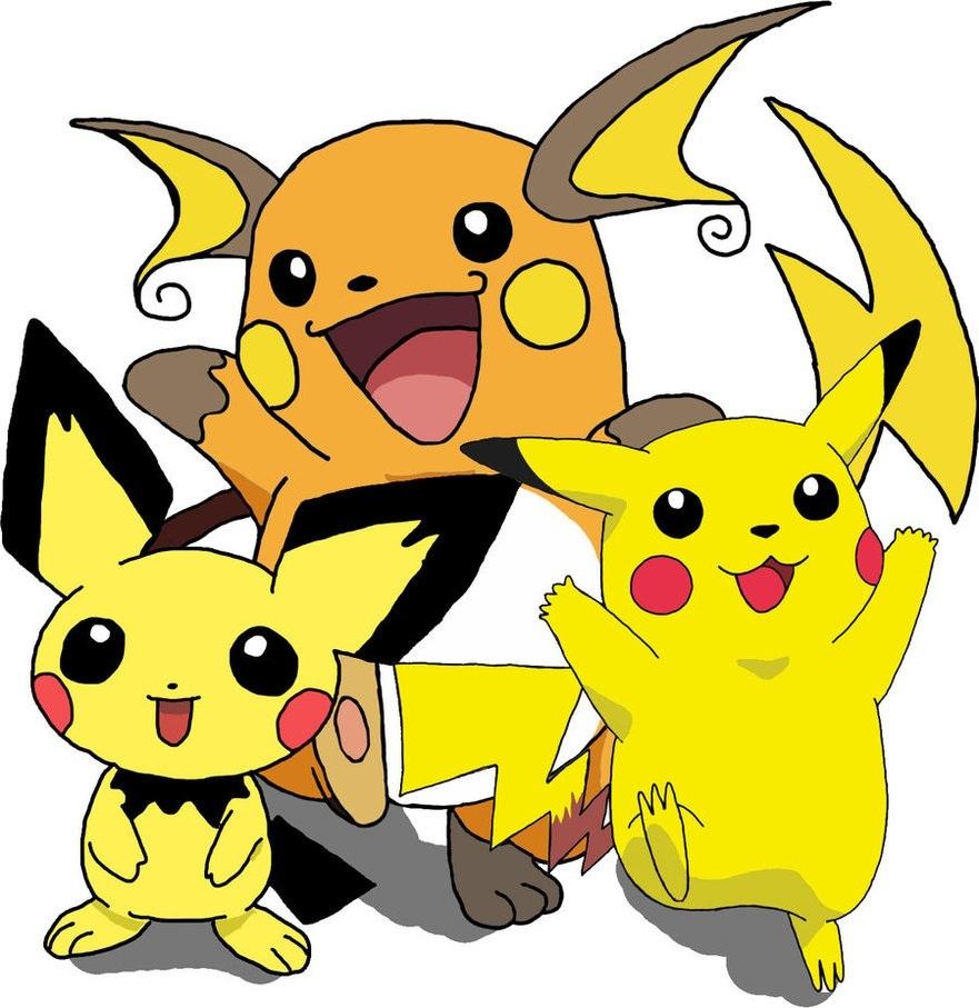 Pikachu clipart pokemon pichu Picture Pikachu Pikachu Pokemon Raichu