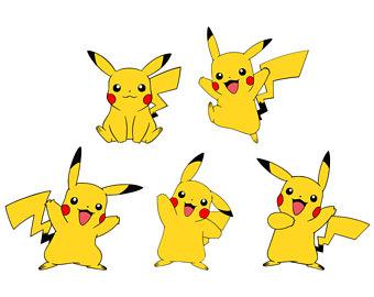 Pikachu clipart vector Svg Pikachu Etsy cricut files