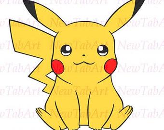 Pikachu clipart vector Silhouette Cricut files svg Pikachu