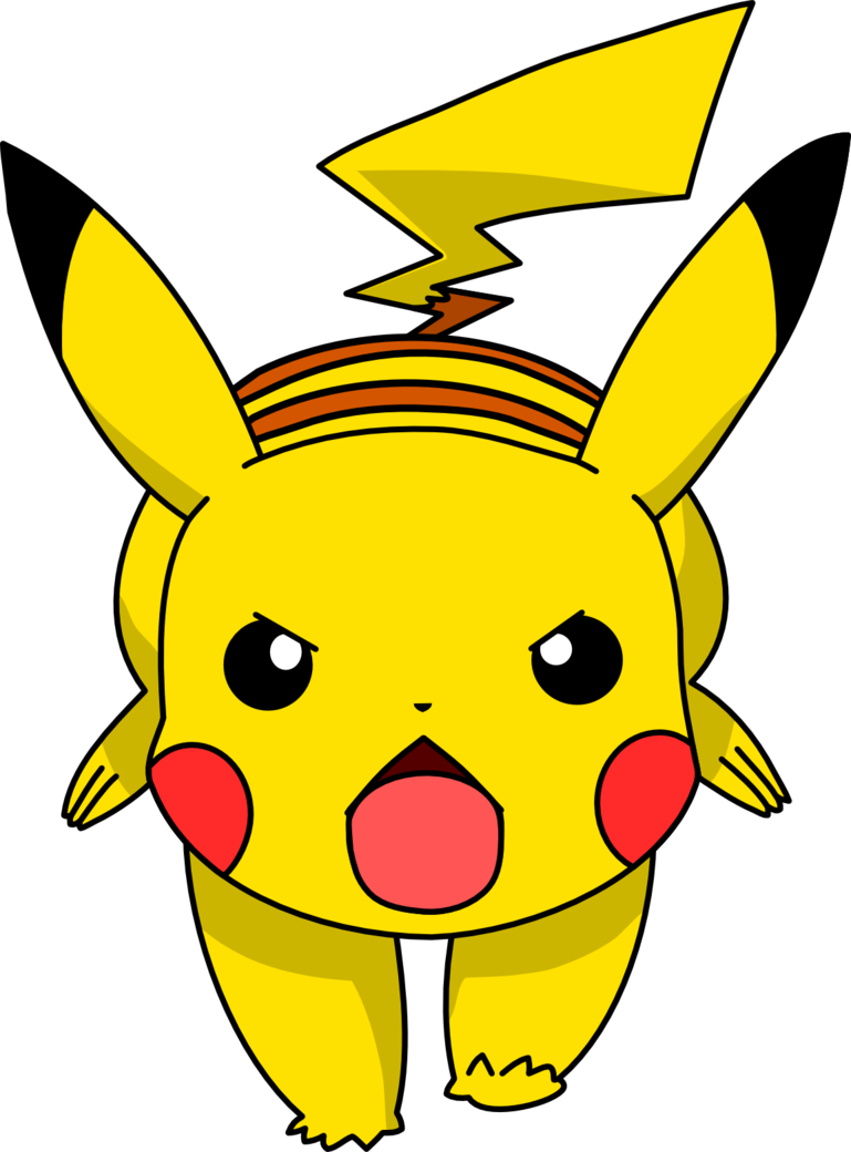 Pikachu clipart vector On Pikachu by Mighty355 02