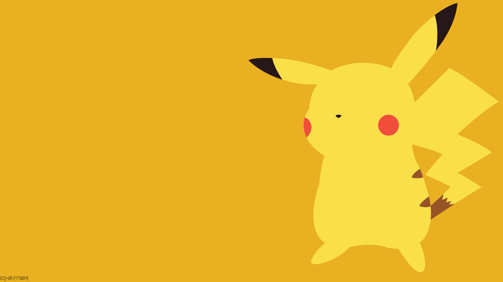 Pikachu clipart wallpaper Pikachu Minimal by Wallpaper by