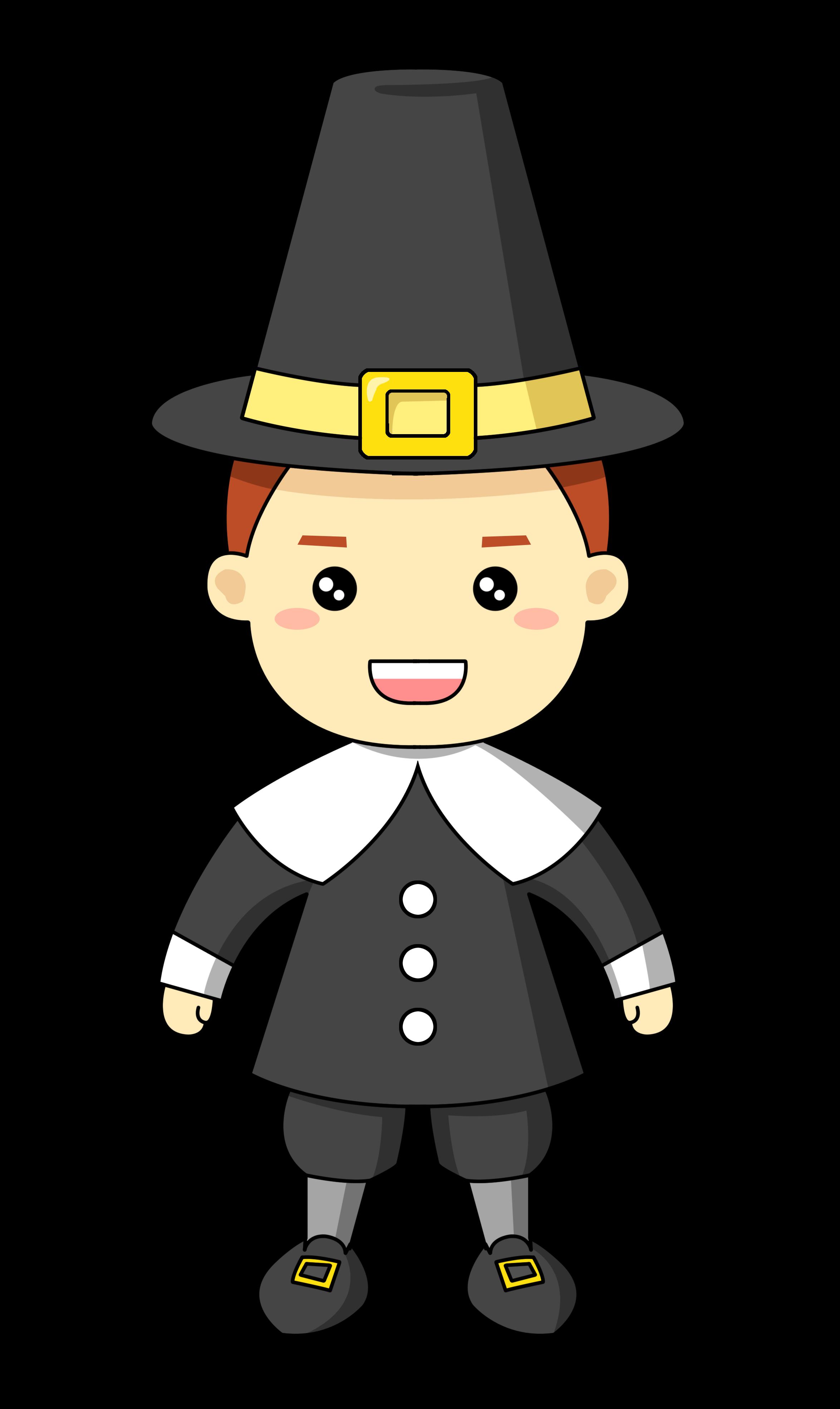 Pilgrim clipart This Thanksgiving use art or