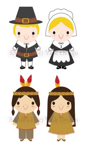 Pilgrim clipart cute happy thanksgiving turkey Clipart Art Pilgrim Clip Art