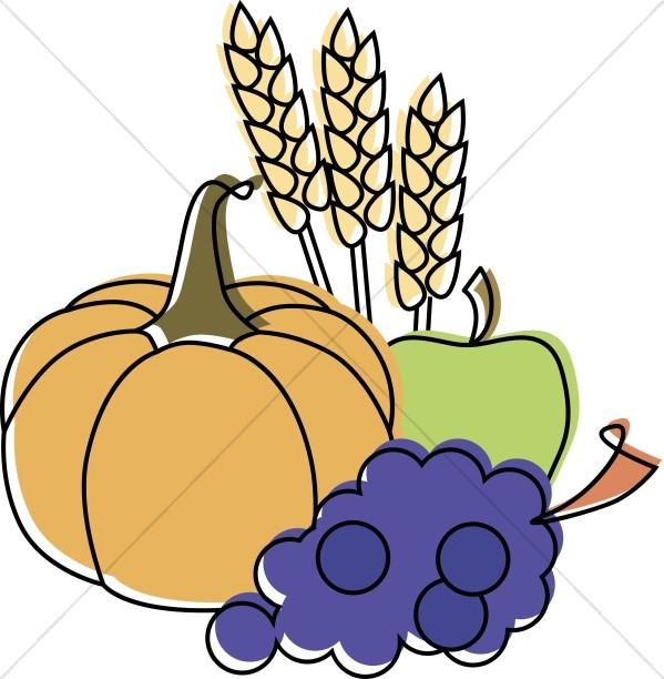 Pilgrim clipart food Fall Clipart Food Thanksgiving Clipart