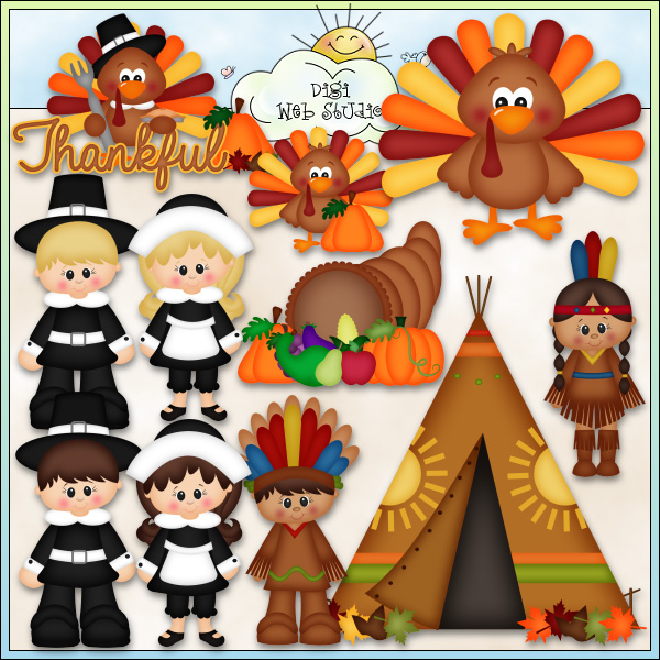 Cornucopia clipart give thanks  Kristi Art Day Designs