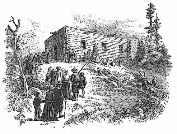 Pilgrim clipart homes #12