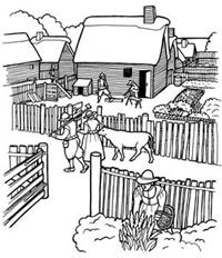 Pilgrim clipart homes #11