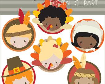 Pilgrim clipart kid #12