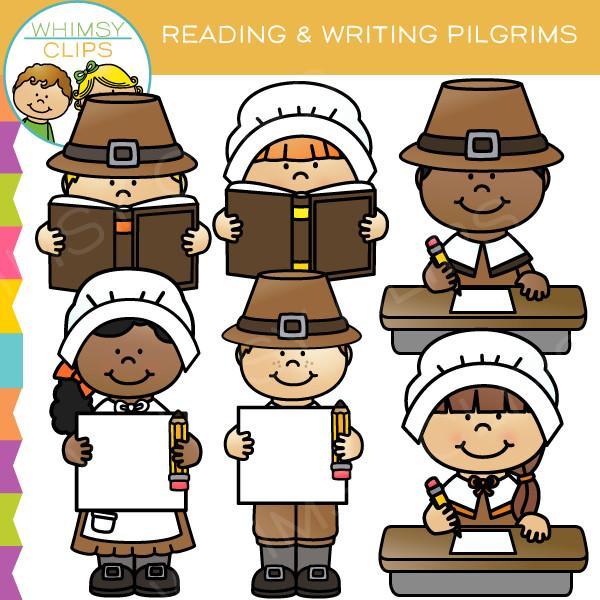 Pilgrim clipart kid #4