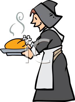 Pilgrim clipart lady #2